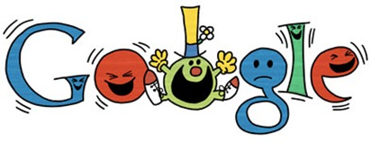 76th Birthday Of Roger Hargreaves-Mr Funny Google Doodle Logo