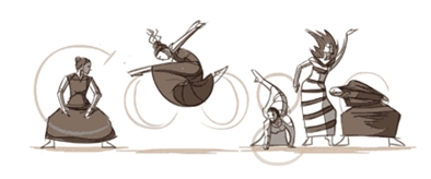 Martha Graham's 117th Birthday Google Logo
