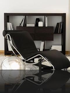 meuble rangement design noir