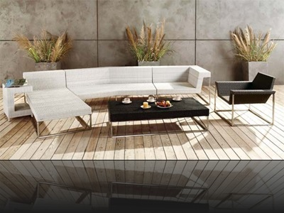 table basse design jardin