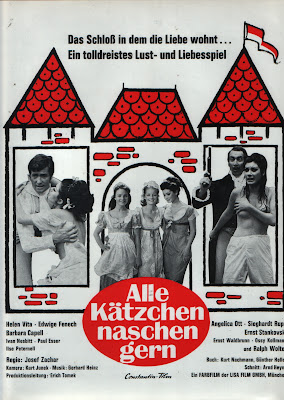 The Blonde and the Black Pussycat (Alle Kätzchen naschen gern) (1969, Germany) movie poster
