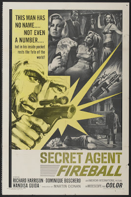 Secret Agent Fireball (Le spie uccidono a Beirut / The Spy Killers in Beirut) (1965, Italy / France) movie poster