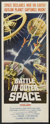 Battle in Outer Space (Uchu daisenso, aka The Great Space War) (1959, Japan) movie poster