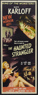 The Haunted Strangler (aka Grip of the Strangler) (1958, UK) movie poster