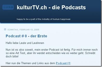 der erste podcast