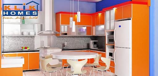Harga Kitchen Set Kitchen Set Hitam Orange Dengan Mini Bar