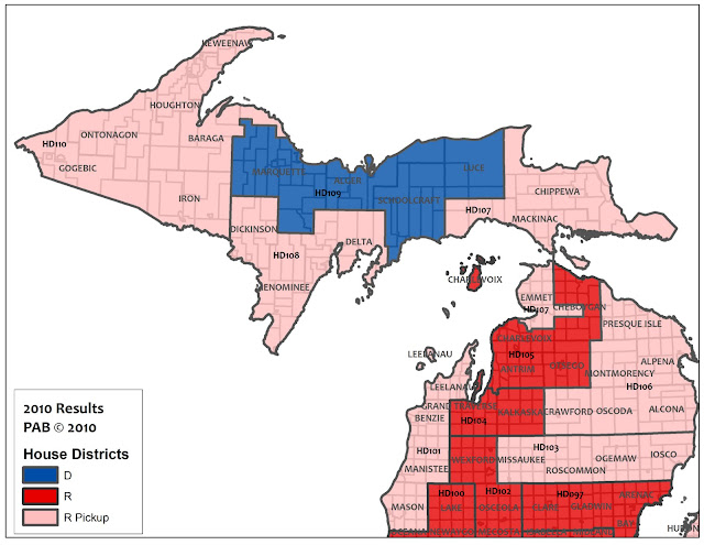 Pbratt Swing State Project: Michigan State Representative District Map At Codeve.org