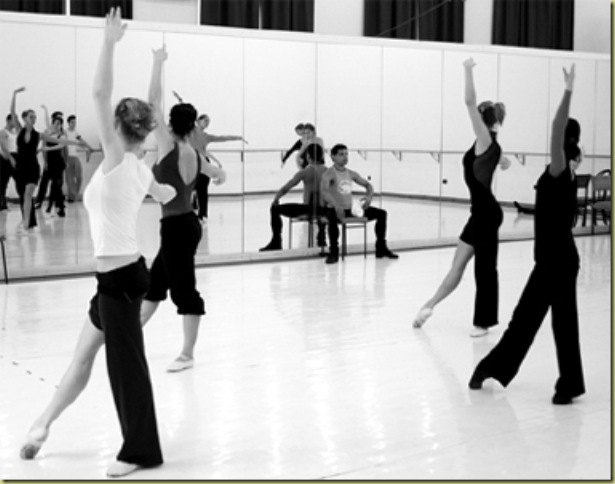 Ballet class with Alexander Pereda in Hungary.