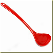 red spoon
