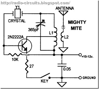 Radio Circuits Blog: One Transistor Transmitter for QRP