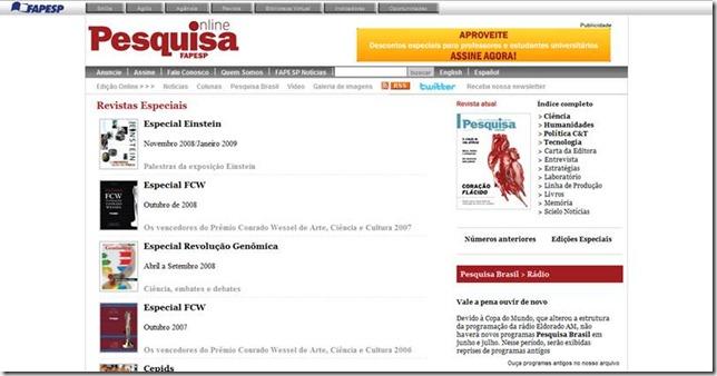 Pesquisa - Revistas Especiais