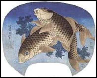 Katsushika-Hokusai-Carpe-nello-stagno-33032