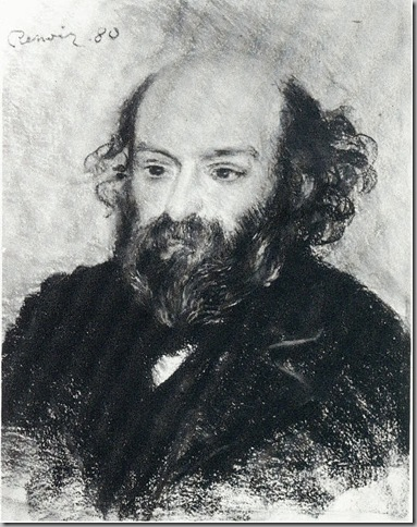 Auguste Renoir, 1.880. Retrato de Paul Cezanne. Pastel, 55 x 43. Acquavella Galleries, Inc. Nueva York.