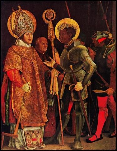 Matthias Grunewald Encuentro de San Erasmo y Mauricio (1523)