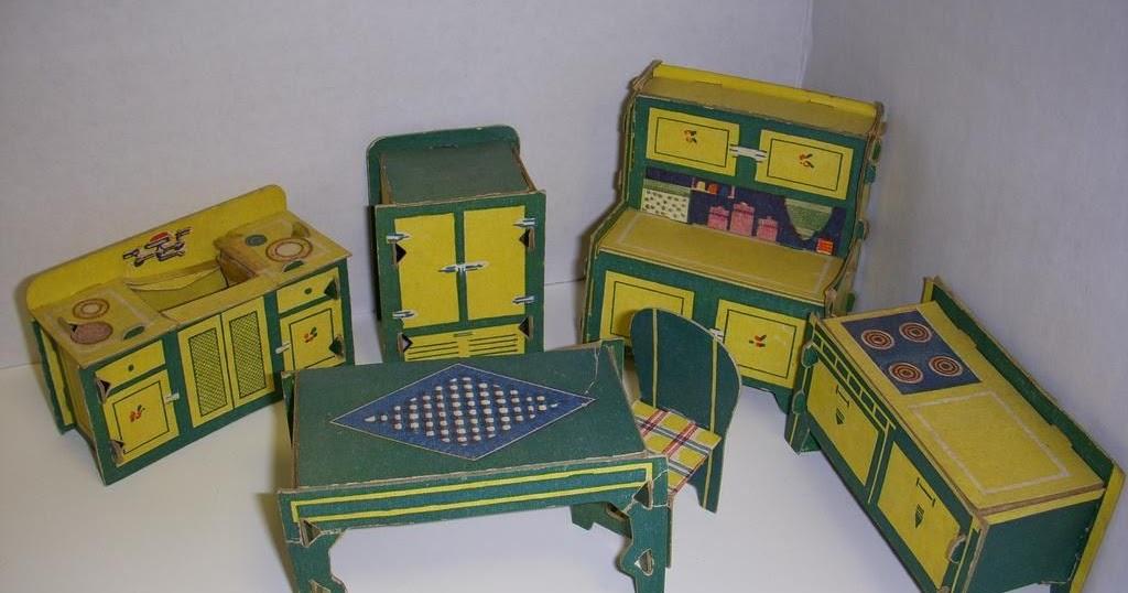 Casita de papel muebles built rite 1930 for Muebles de cocina alve