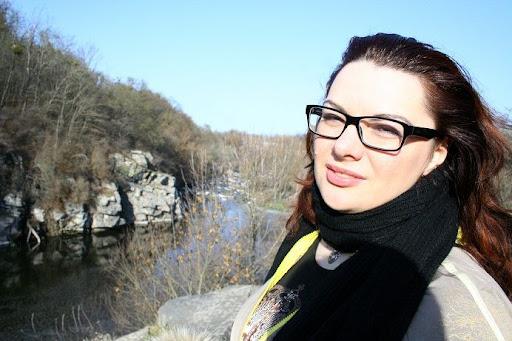 Марта Останкова на зйомках в Буках
