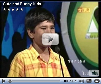 Some of the cute and funny faces in vijay tv airtel super singer junior