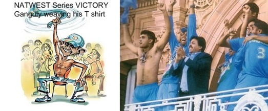ganguly removed his t-shirt @lords after winning natwest series