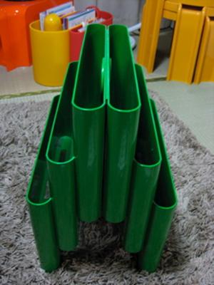 Kartell Stoppino 4675 magazine rack, green