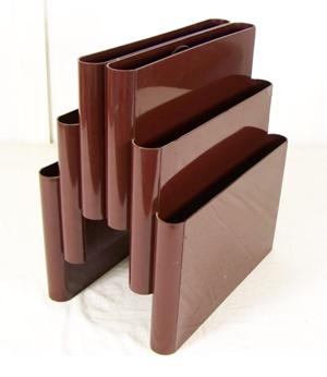 Kartell Stoppino 4675 magazine rack, brown