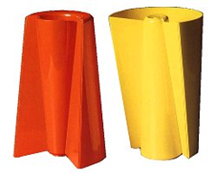 Orange and yellow Pago Pago vases