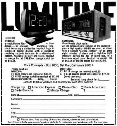 Lumitime advertisement