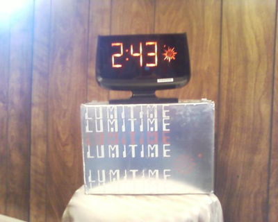 Lumitime clock, black