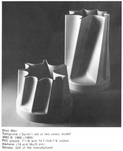 Tortiglione vases, original