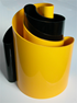 Deda vase yellow/black