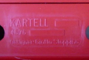 Kartell Stoppino 4676 magazine rack, red imprint