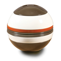 La Boule in brown, white, and cognac