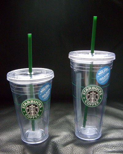 Starbucks Grande and Venti to-go cold cups