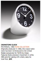 Cronotime MoMA ad, 2007