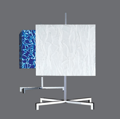 Elvis table lamp, blue and white