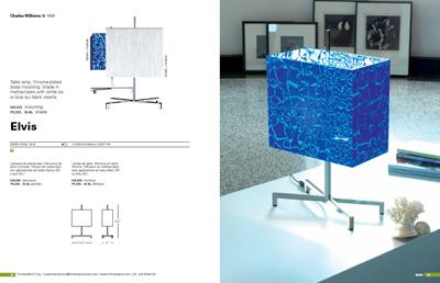Elvis table lamp, technical data sheet