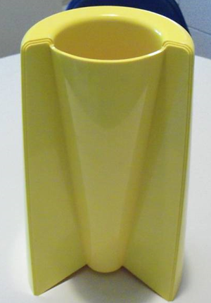 Pago Pago vase, yellow
