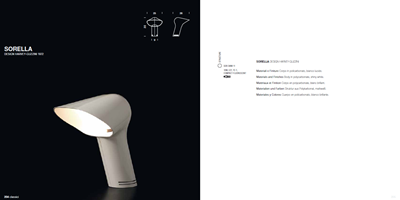 Sorella table lamp, technical data sheet