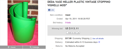 Deda auction end screenshot