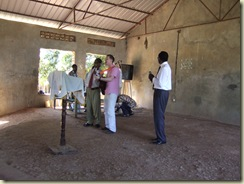 John Leads worship at Pastor Paul's church