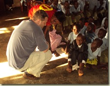 Martin and children at Tumaini