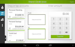 Screenshot of Sharon Credit Union Mobile