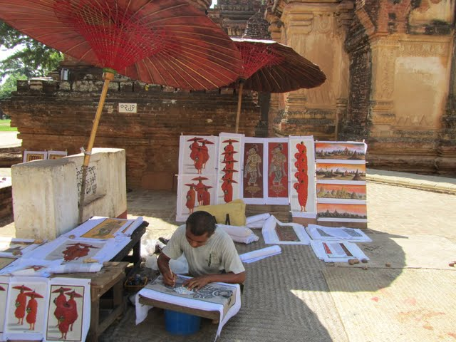 Myanmar monk paintings