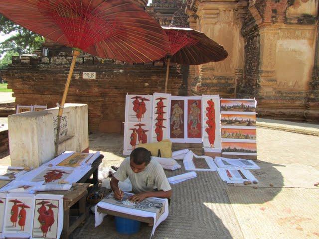 Myanmar monk paintings