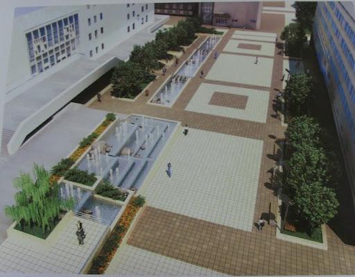 фонтанный комплекс и реконструкция площади перед зданием мэрии