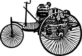 A tricycle built by Carl Benz