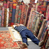 Pretty tough day, selling carpets