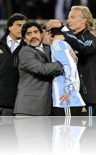 Argentinos lamentam eliminação na Copa
