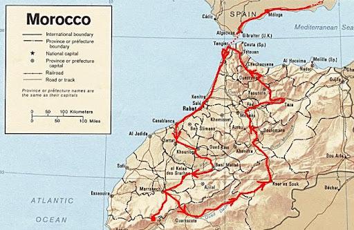 Recorrido Marruecos 2010
