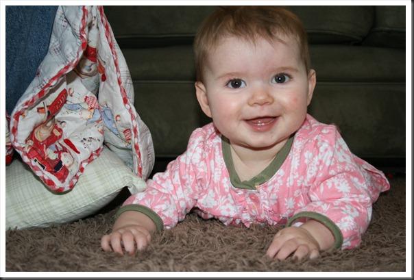 Izzy smiles