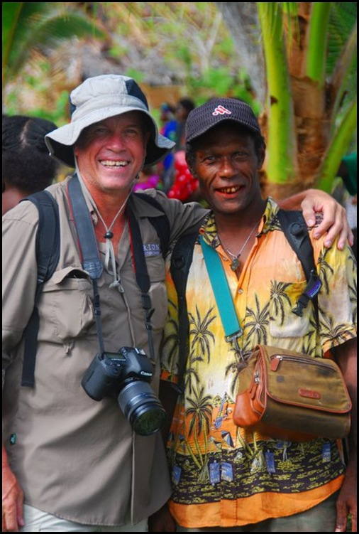 August with a member of the Travel Wild TV crew